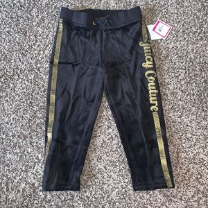 Juicy Couture Girls Black/Gold Joggers SZ.4